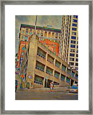 Seattle Cityscape - Vertical Framed Print