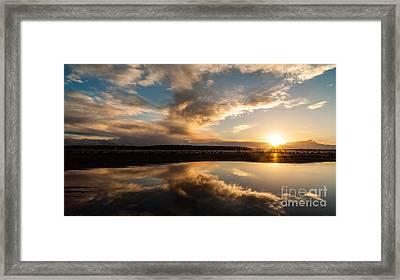 Seattle Clouds Sunstar Framed Print