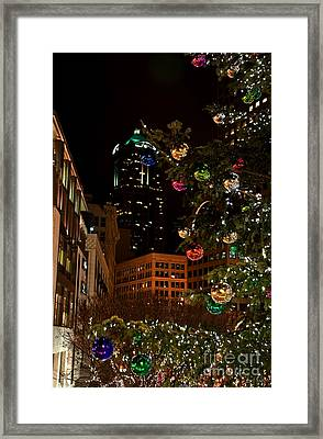 Seattle Downtown Christmas Time Art Prints Framed Print by Valerie Garner