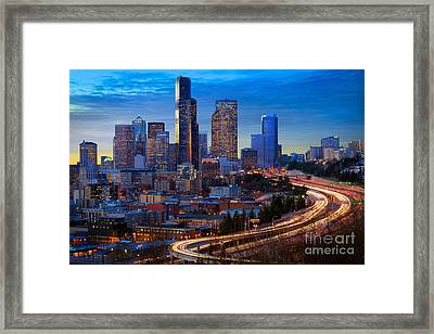 Seattle Downtown Framed Print