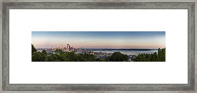 Seattle Elliot Bay Panorama Huge Framed Print