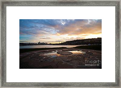 Seattle Gasworks Sunset Framed Print by Mike Reid