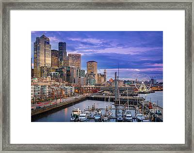 Seattle Great Wheel Framed Print
