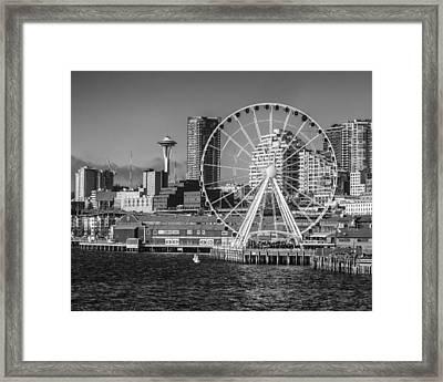 Seattle's Great Wheel Framed Print
