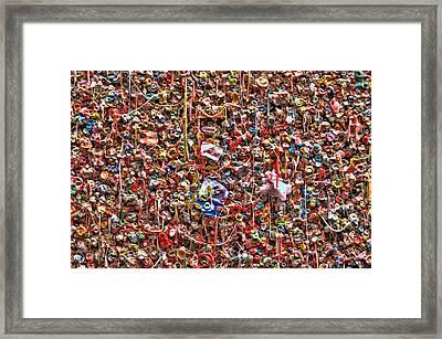 Seattle Gum Wall 2 Framed Print by Allen Beatty