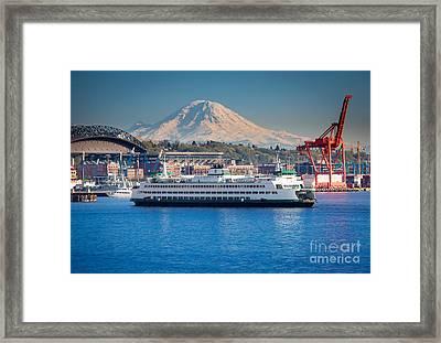Seattle Harbor Framed Print by Inge Johnsson