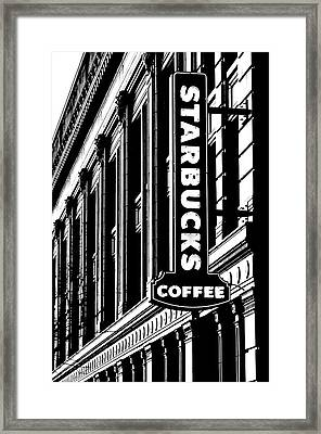 Seattle Icon Black And White Framed Print
