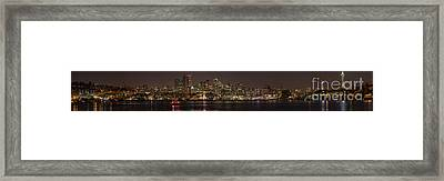 Seattle Lake Union Winter Reflection Framed Print by Mike Reid