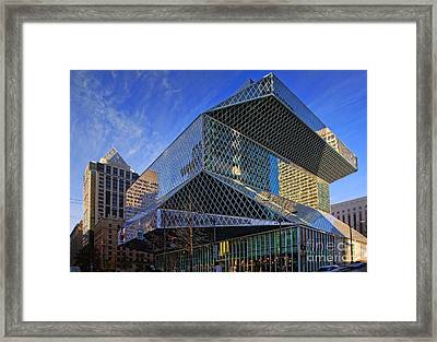Seattle Library Framed Print