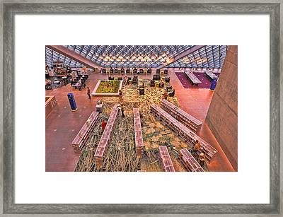 Seattle Library Lobby Framed Print