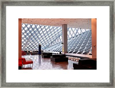 Seattle Library Reading Room Framed Print