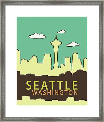 Seattle Framed Print by Lisa Barbero