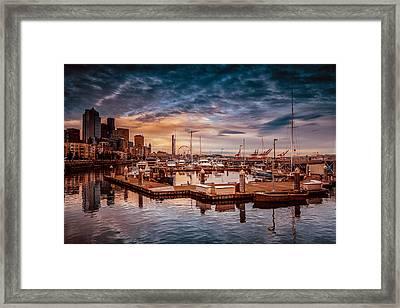 Seattle Marinescape. Framed Print by Eti Reid