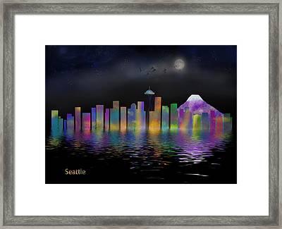 Seattle Framed Print by Nichon Thorstrom
