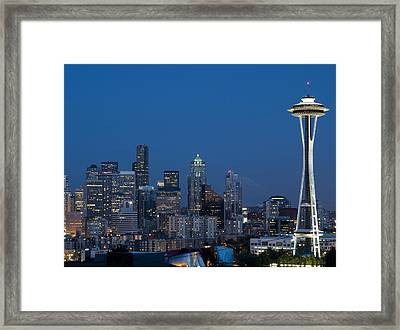 Seattle Nights Framed Print by David Yack