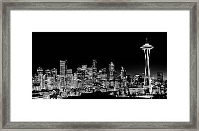 Seattle Nightscape Framed Print