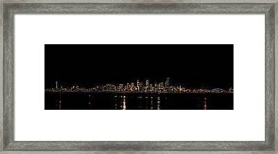 Seattle Panorama Framed Print by Brian Xavier