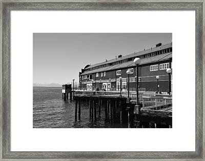 Framed Print featuring the photograph Seattle Pier by Kirt Tisdale