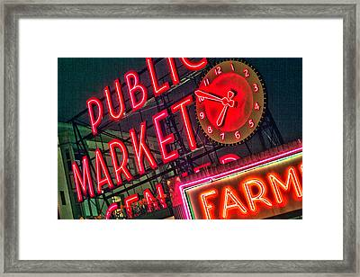 Seattle Pike Street Market Framed Print