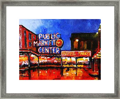 Seattle Public Market Framed Print