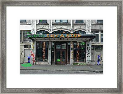 Seattle Publix Hotel Framed Print by John Hines