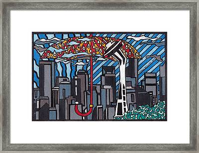 Seattle Rain Framed Print by Molly Williams