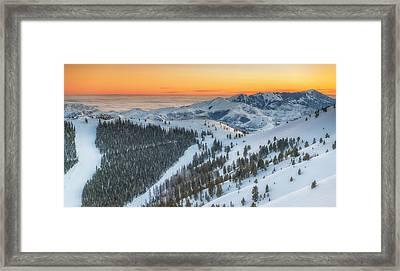 Seattle Ridge Sunset Framed Print