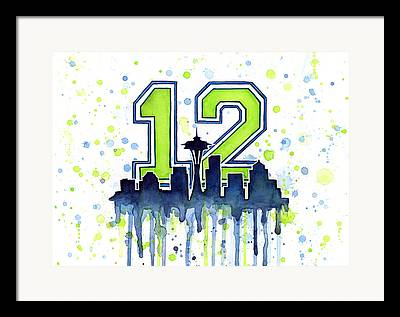 Seattle Seahawks Framed Prints