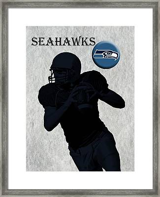 Seattle Seahawks Football Framed Print by David Dehner