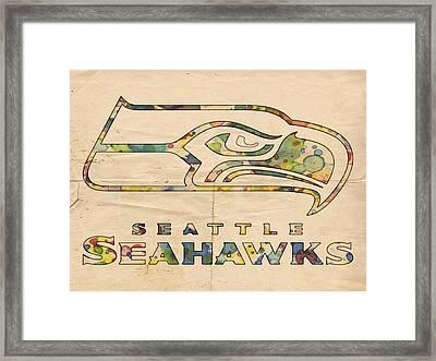 Seattle Seahawks Logo Poster Framed Print