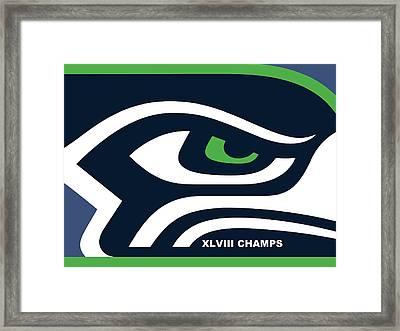 Seattle Seahawks Super Bowl Champs Framed Print by Tony Rubino