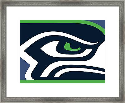 Seattle Seahawks Framed Print by Tony Rubino