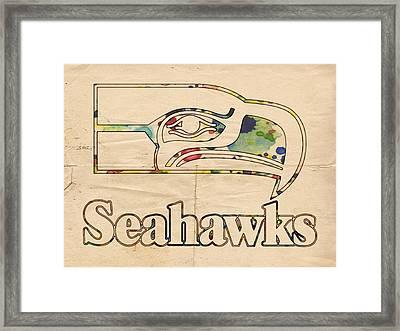 Seattle Seahawks Vintage Poster Framed Print
