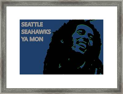 Seattle Seahawks Ya Mon Framed Print by Joe Hamilton