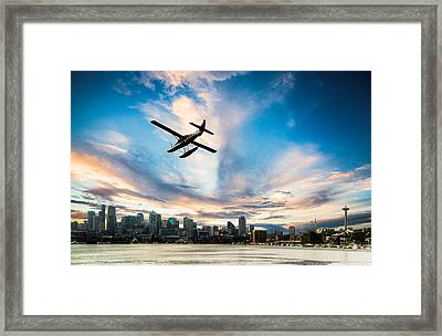 Seattle Short Final Framed Print by Peter Irwindale