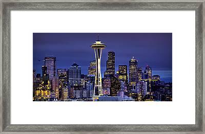 Seattle Skies Framed Print
