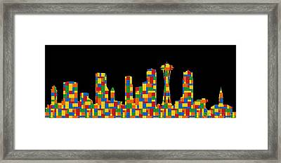 Seattle Skyline 2 Framed Print by Andrew Fare