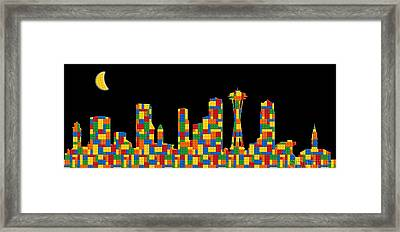 Seattle Skyline 3 Framed Print by Andrew Fare