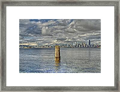 Seattle Skyline And Cityscape Framed Print