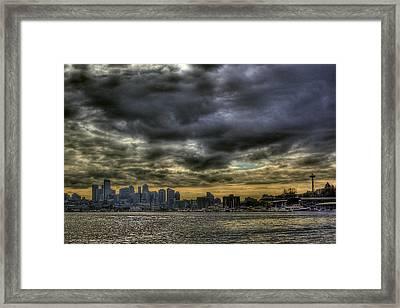 Seattle Skyline Framed Print by David Patterson
