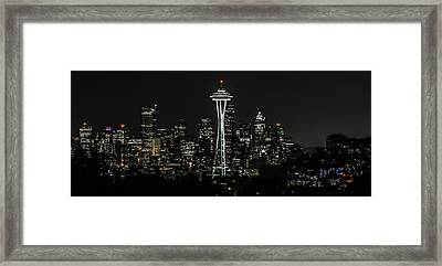 Seattle Skyline From Kerry Park Framed Print by CarolLMiller Photography