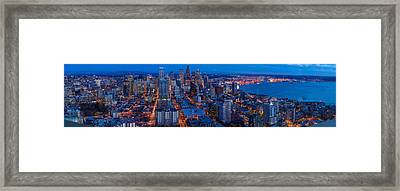 Seattle Skyline From The Space Needle Framed Print