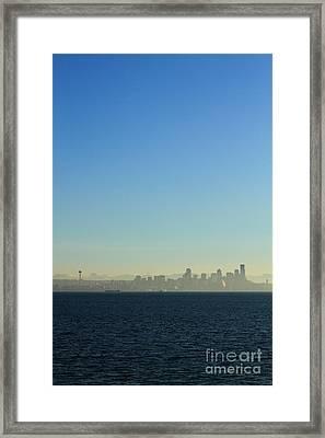 Seattle Skyline Framed Print by Hans Koepsell