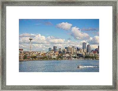 Seattle Skyline Framed Print by Janis Knight
