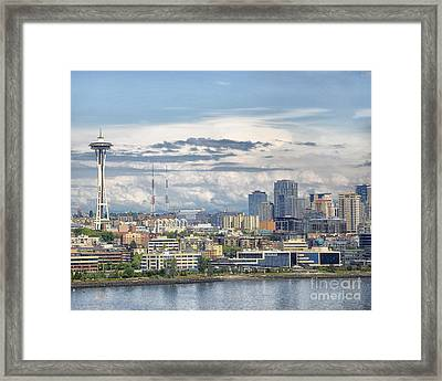 Seattle Skyline Framed Print by JRP Photography