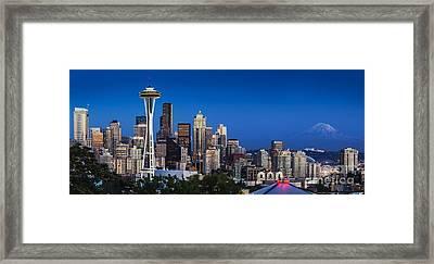 Seattle Skyline Panoramic Framed Print