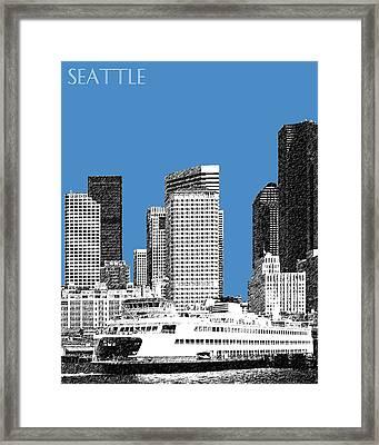 Seattle Skyline - Slate Framed Print