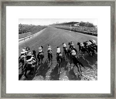 Seattle Slew Horse Racing #01 Framed Print by Retro Images Archive