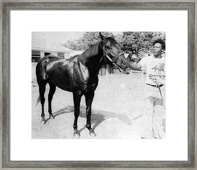 Seattle Slew Horse Racing #07 Framed Print by Retro Images Archive