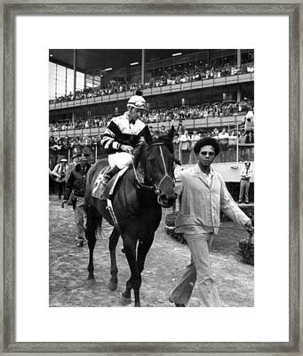 Seattle Slew Horse Racing #08 Framed Print by Retro Images Archive